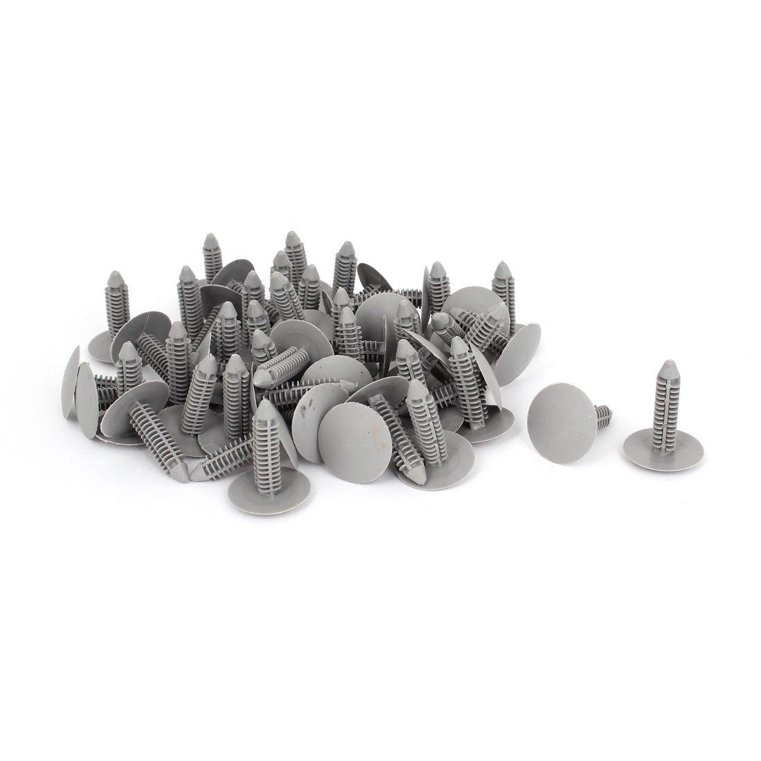 20 Pack uxcell a14102400ux0641 Car Auto Parts Plastic Push Screw Rivet Panel Fixings Clips Gray 20Pcs