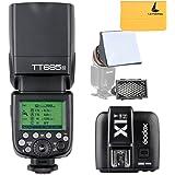 Godox TT685N TTL HSS 1/8000s GN60 2.4G Wireless Blitz Blitzlicht Blitzgeräte Speedlite with X1T-N Transmitter and LETWING Cloth für Nikon (TT685N with X1T-N)