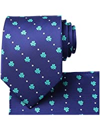 a7f115cacc57 Mens Tie Set: Paisley Necktie + Pocket Square Hanky + Gift Box