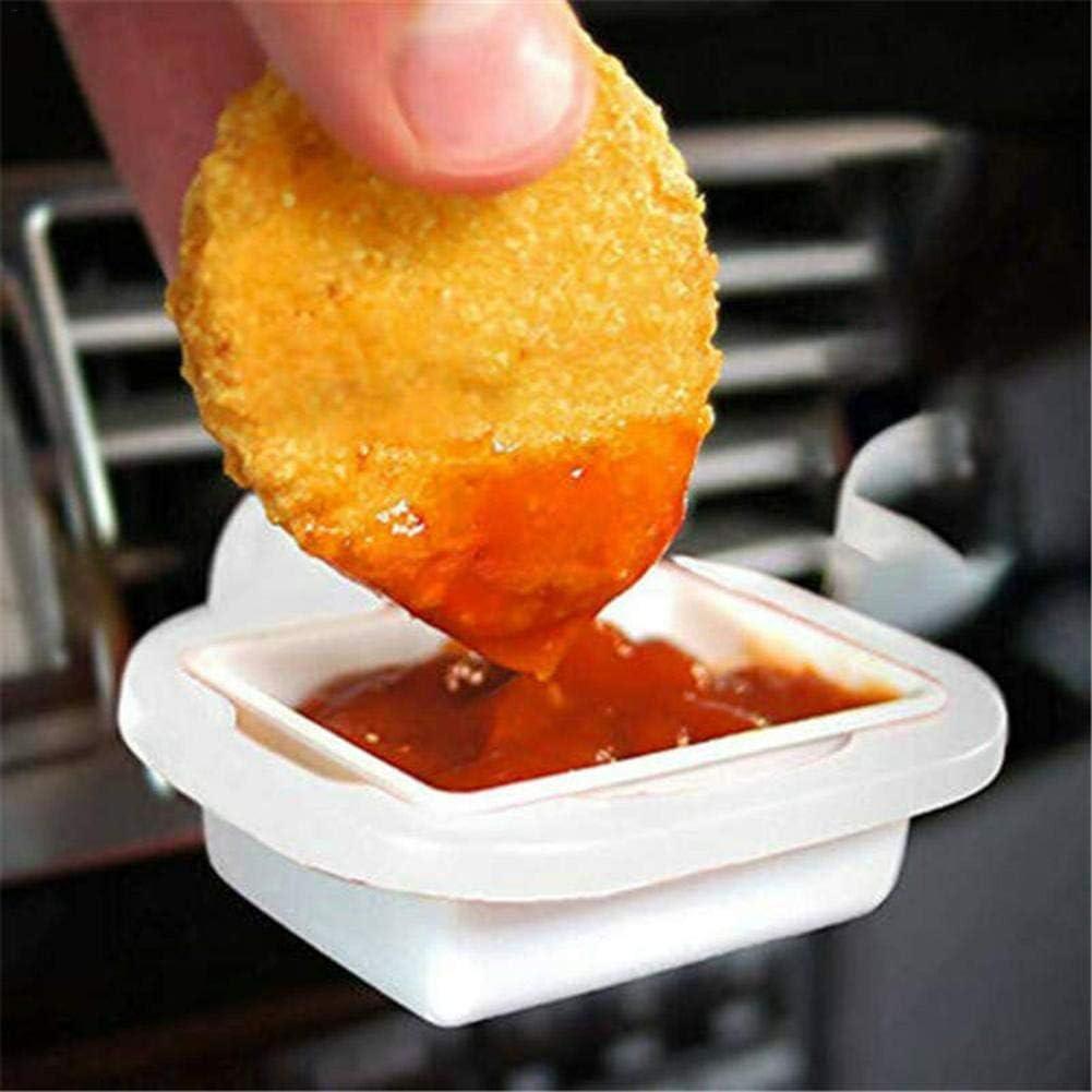 Wei/ß 2Pcs Crazywind Saucem Dip Clip In-Car Saucenhalter f/ür Ketchup Dipsaucen