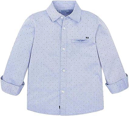 Mayoral - Camisa Estampada para niño Azul Celeste 92 cm (24 Meses): Amazon.es: Ropa y accesorios