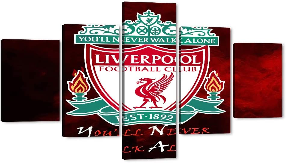 Liverpool Badge Canvas Picture Football Quote Never Walk Alone Photo Poster