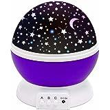(Promotions)SOLMORE Lampada Stelle LED Luna proiettore cielo stellato luci notturne lampada proiettore di stelle per bambini con Cavo USB Viola