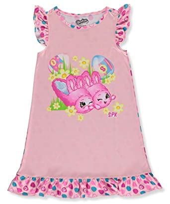 32011405f8ae Amazon.com  Shopkins Easter Nightgown Pajamas For Girls Pink Bunny ...