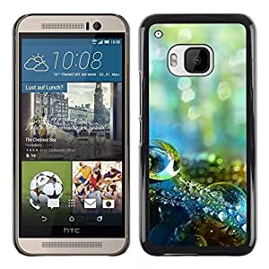 LECELL -- Funda protectora / Cubierta / Piel For HTC One M9 -- Water Drop Macro --
