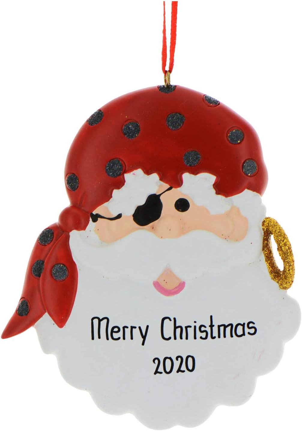 Nautical Sailor Santa Christmas Holiday Ornament Glass