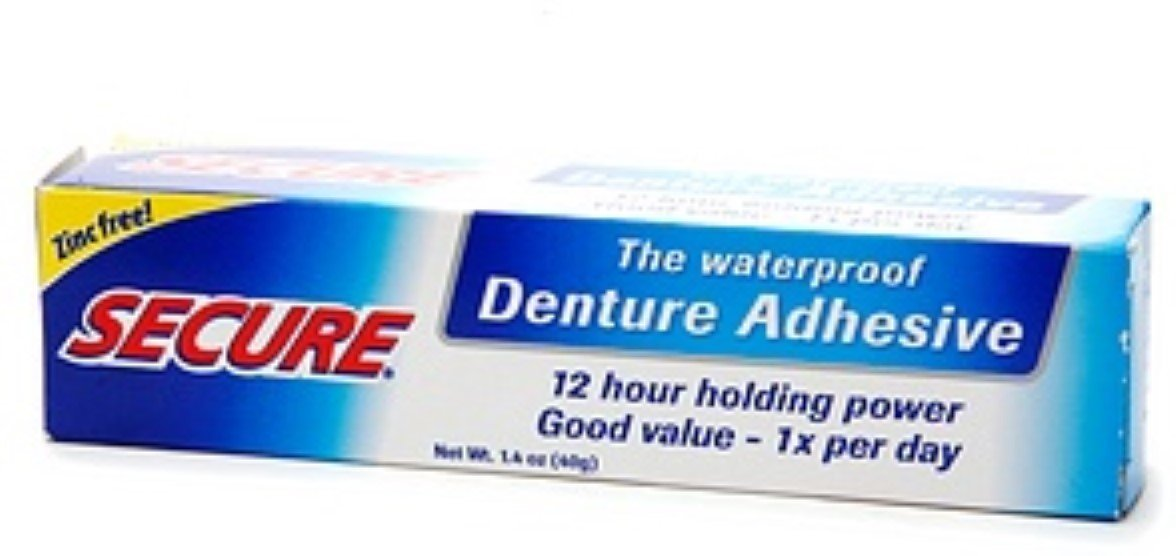 Secure Denture Adhesive 1.4 oz (Pack of 7) by Secure Denture