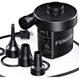 Electric Air Pump, FUNAVO Portable Air Pump With 3 Nozzles, 130 W Quick-fill electric pump, Inflate/Deflate Air Pumps for Inf