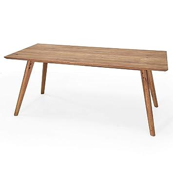 MÖBEL IDEAL Esstisch Eiche Massiv 180 x 90 x 76 cm Tisch ...
