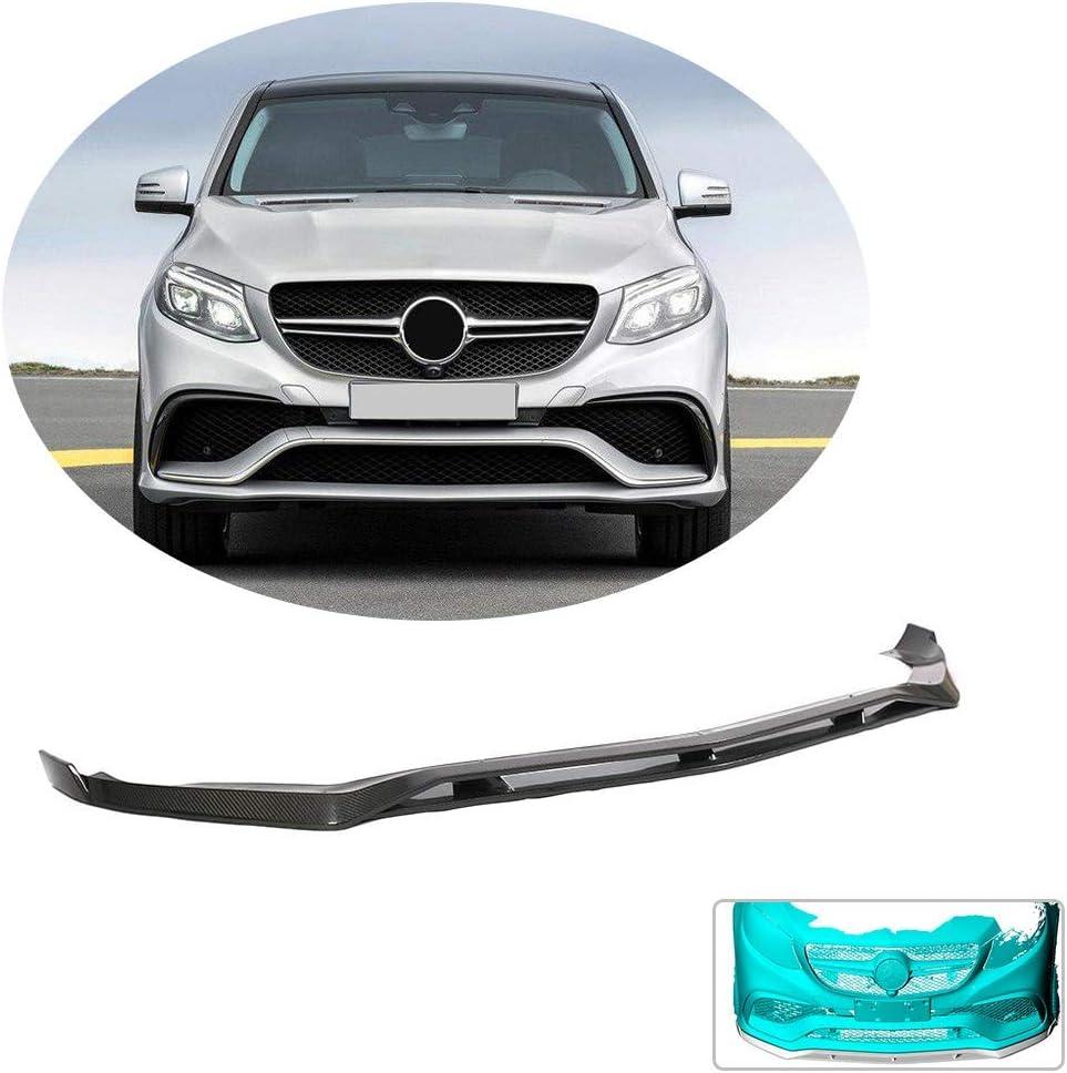 XTT Front Bumper Lip fits Mercedes Benz GLE Class GLE63 AMG Coupe 2015-2018 Carbon Fiber CF Chin Spoiler Splitter Protector