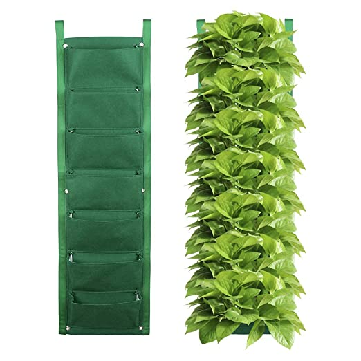 JYCRA - Maceta Vertical para jardín, 7 Bolsillos, para Colgar en ...