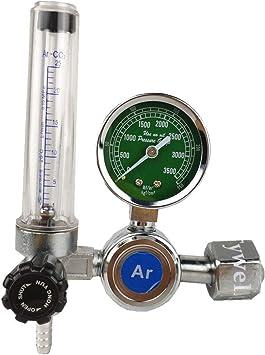 0-25 Mpa Pressure Guage Argon Flowmeter G5//8 Inlet MIG TIG Welding Regulator Argon Regulator