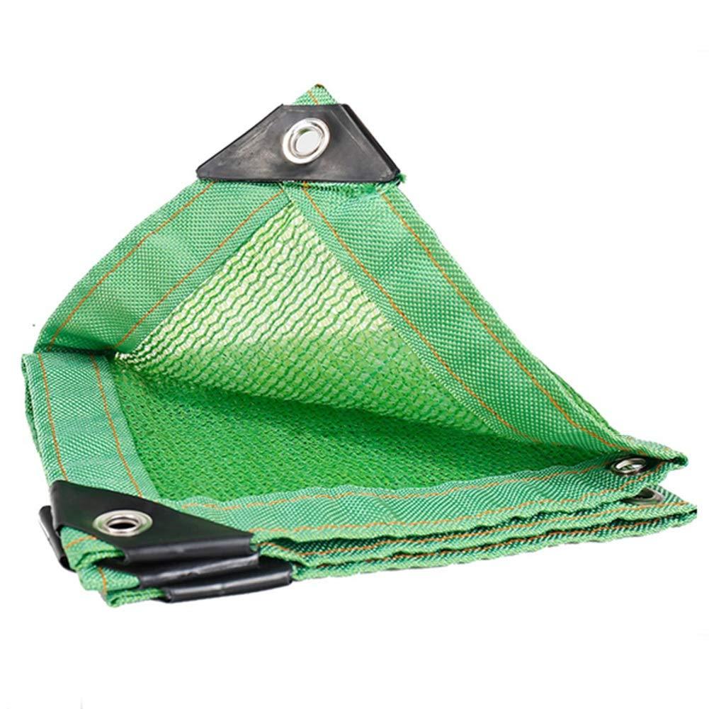 XUEYAN Parasole Rete, Protezione Solare Antipolvere Anti-età, Tetto da Giardino Protezione Solare Rete 6 Ago (Colore : Green, Dimensioni : 2x2m)