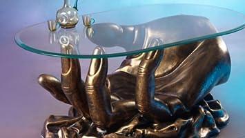 Hand Couchtisch Figuren Tisch Wohnzimmertisch Designer Style (Bronze)