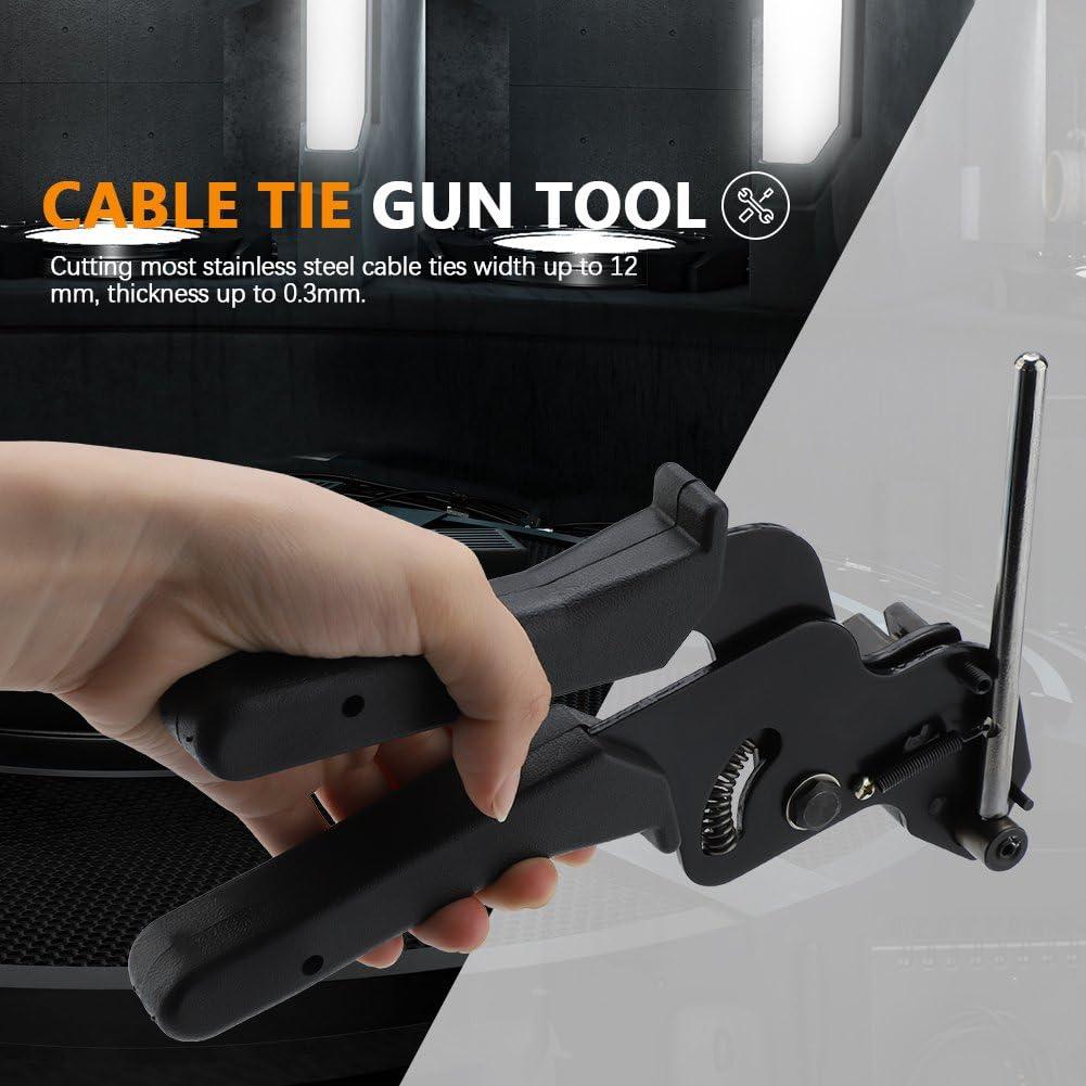 200Pcs Stainless Steel Cable Ties Gun Auto Tightener Cut Fasten Self Locking Met