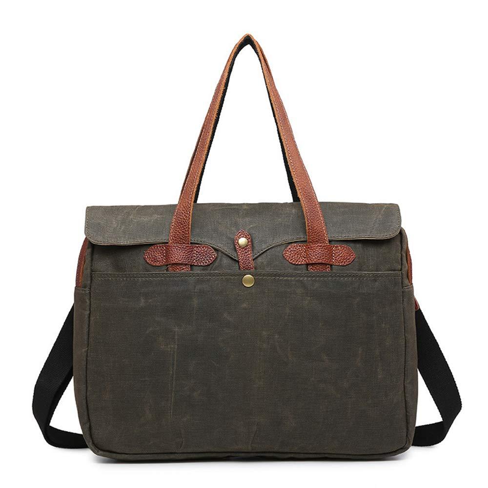 30cm 10 waterproof Suitable for shopping/work,green,41 WY-AYNG Rucksack women Laptop backpack handbag Vintage canvas bag Casual shoulder-slung crossbody bag