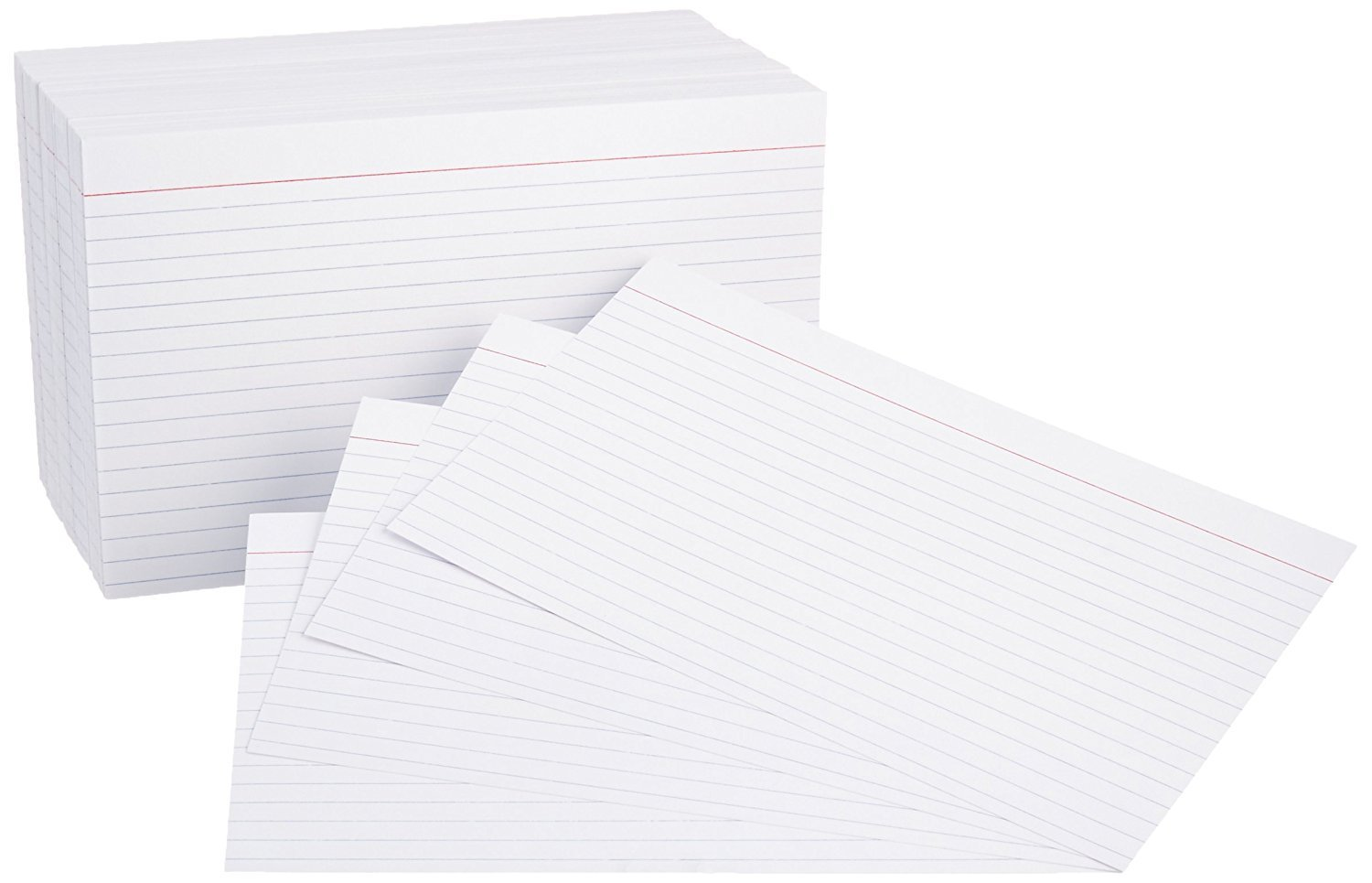 Office Basiks 5 x 8-inch Ruled White Index Cards, 500-Count