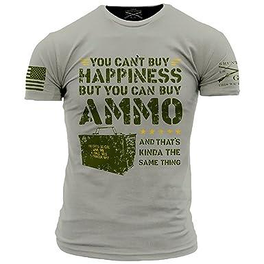 4b8137996 Amazon.com: Grunt Style Ammo is Happiness Men's T-Shirt: Clothing