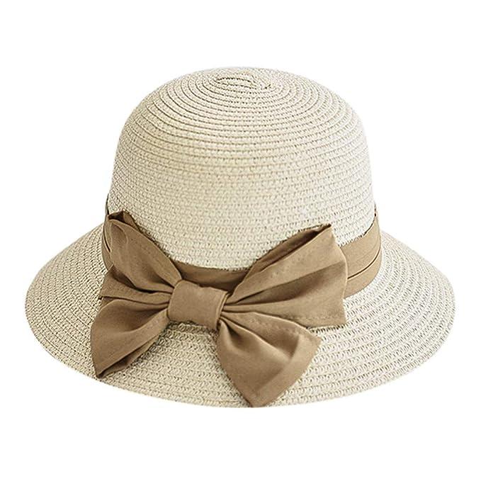 Amazon.com: XQXCL - Sombrero de paja plegable para mujer ...