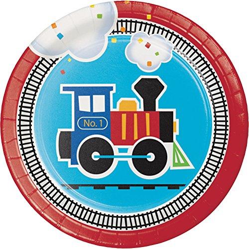 All Aboard Train Dessert Plates, 24 ct