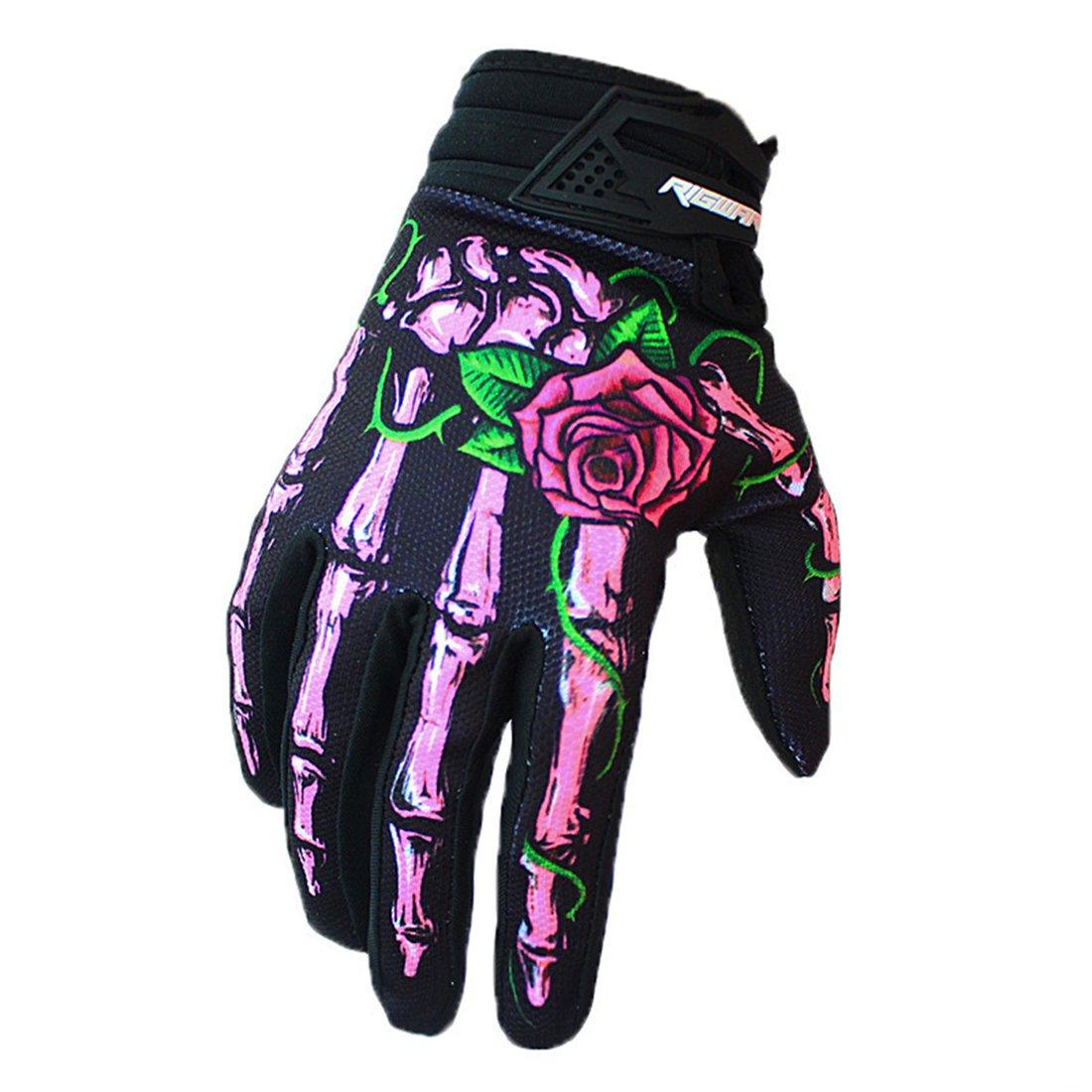 本店は GWELLユニセックスフルスケルトン手指サイクリンググローブ、印刷手袋for Ourdoor Biking M( unisex youth size) skeleton Pink youth Ourdoor skeleton hand and rose B077FJ2Y8B, Smiling Angel Fashion Shop:f7edf43a --- agiven.com