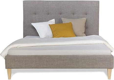 Homestyle4u 1864, respaldo acolchado cama con somier, 140 x ...
