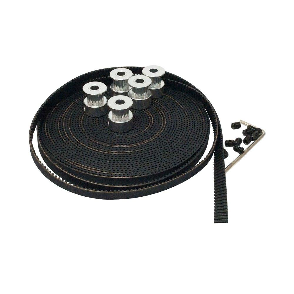 Bemonoc T25 Timing Belt Pulleys 16 Teeth 5mm Bore 5pcs Pack Gt2 Pulley 40 10mm 6mm 5meters Open Ended Width For 3d Printer Industrial