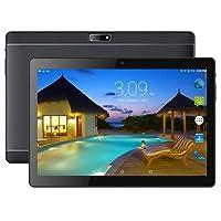 Beneve Último Tablet 2 + 32GB Almacenamiento Android 7.0 Nougat Dual Sim 4G Panel de 10.1 HD IPS Pulgadas, Procesador MTK QuadCore WiFi PC-Negro