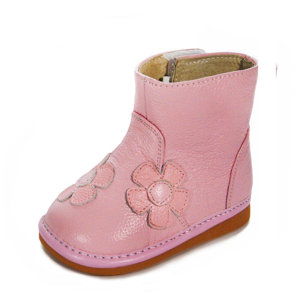 HLT Toddler/Little Kid Girl Pink Flower Pink Squeaky Boot [US 10 / EU 26]