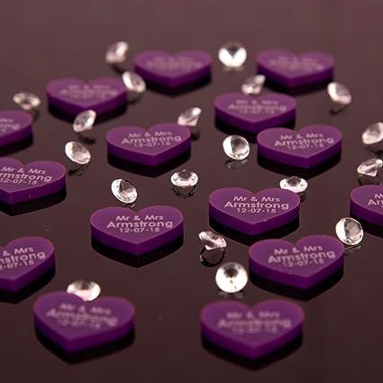 100 Purple Acrylic Wedding Table Decorations Amazon Kitchen