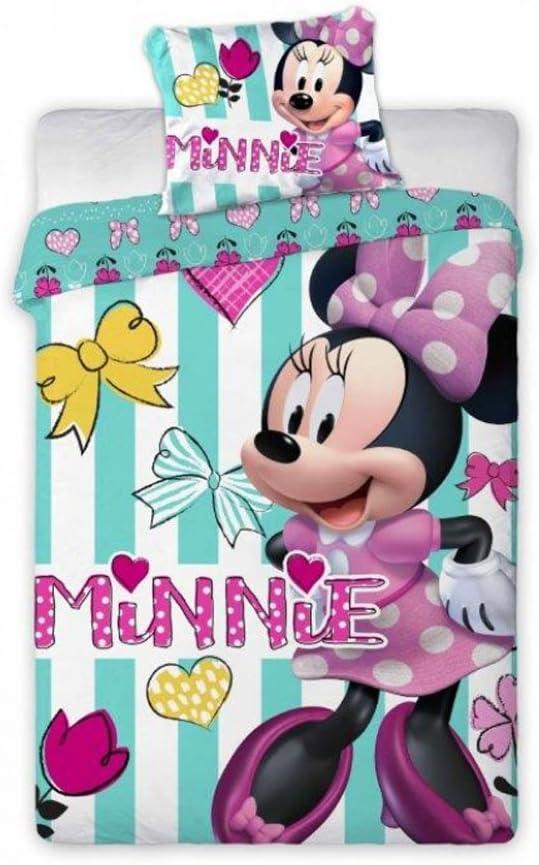 Disney Junior Minnie Mouse - Juego de ropa de cama (100x 135cm)