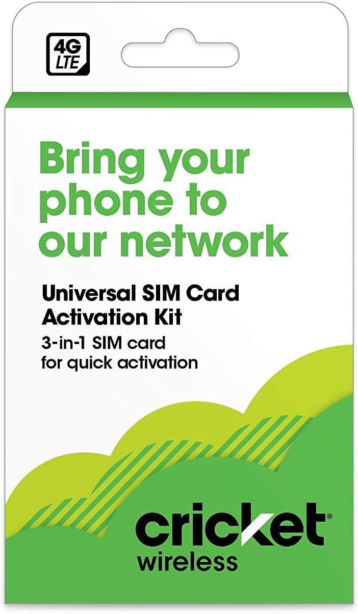 Prepaid Black Limited Edition Cricket BYOD 2.0 Wireless 3-in-1 SIM Card Kit