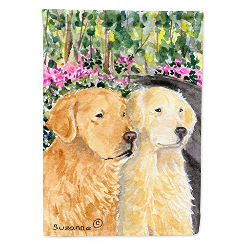 Caroline's Treasures SS8974CHF Golden Retriever Flag Canvas, Large, Multicolor