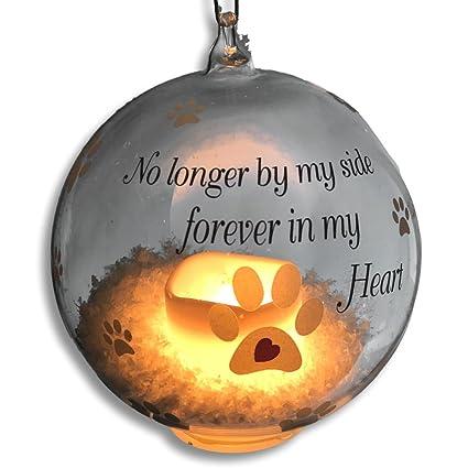 BANBERRY DESIGNS Pet Memorial Christmas Ornament - LED Light Up Glass Ball Xmas  Ornament - No - Amazon.com: BANBERRY DESIGNS Pet Memorial Christmas Ornament - LED