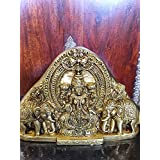 Goddess Lakshmi Brass Statue- Hindu Deity of Wealth & Prosperity Religious Gift