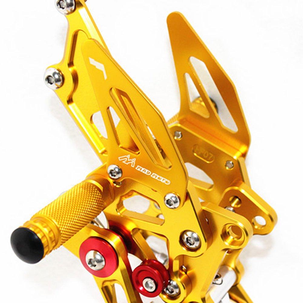 Reposapi/és ajustable para motocicleta Kawasaki NINJA 250R 08-12 compatible con Kawasaki NINJA 250R 08-12 CNC