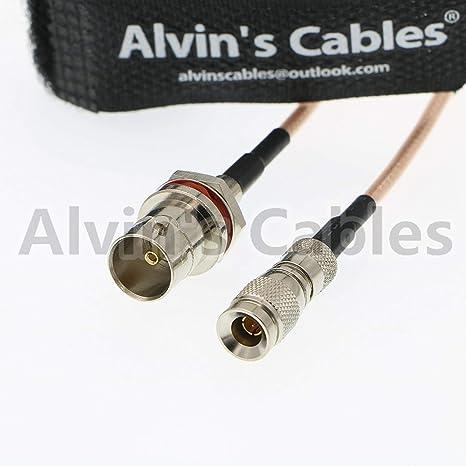 Alvins Cables DIN 1,0/2,3 A BNC Hembra Cable para Blackmagic