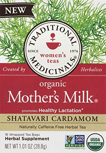 Traditional Medicals Tea, Organic, Mother's Milk Shatavari (Pack of 6)