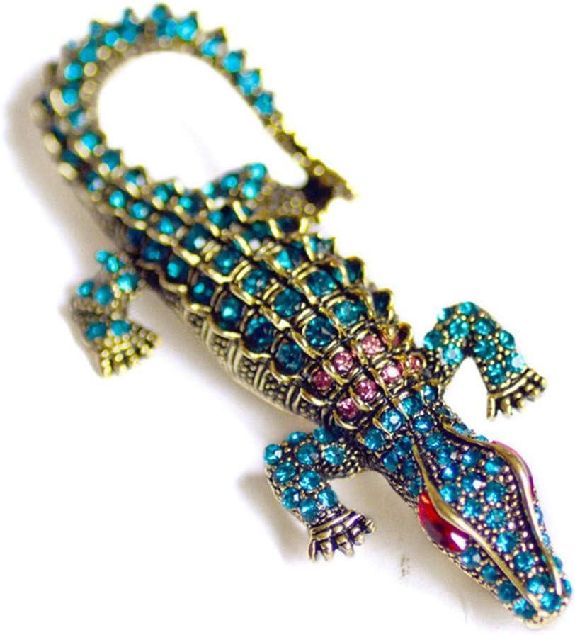 Botreelife Vintage Strass Krokodil Broschen Pins Kleidung Party Zubeh/ör