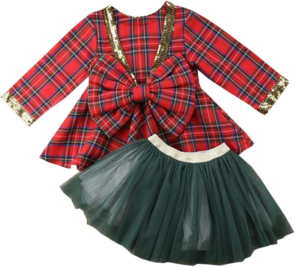 Carolilly - Vestido de Navidad para bebé o niña, Manga Larga a ...