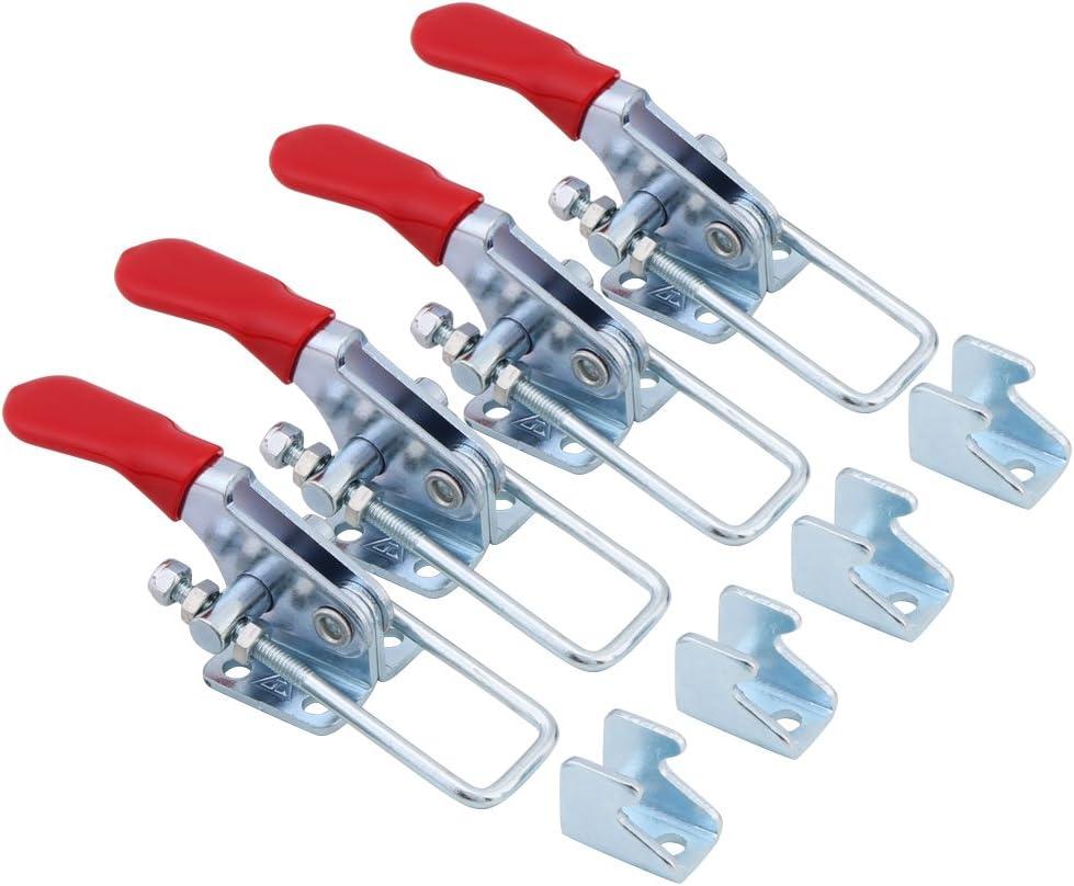 4-teilige Kippklemmen 163 kg GH-40323 Verriegelungstyp Metallhaltekapazit/ät Kippklemmensatz Handwerkzeug-Verriegelungsklemme