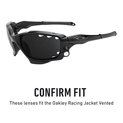 Revant Vented Polarized Replacement Lenses for Oakley Racing Jacket Black  Chrome MirrorShield at Amazon Men s Clothing store  a8d2fb286b8d