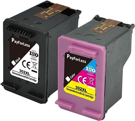 PayForLess 302XL Cartuchos de Tinta Alta Capacidad Compatible para ...
