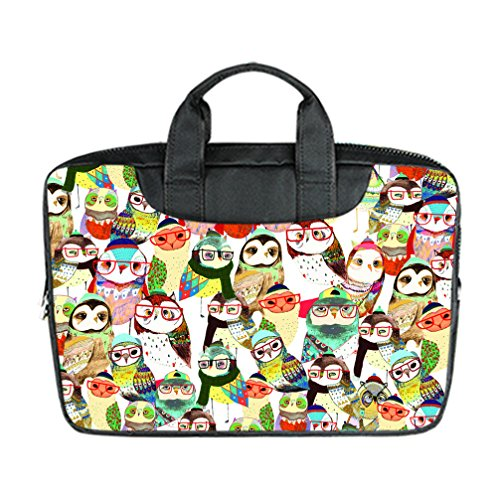 JIUDUIDODO Custom Owl Nylon Waterproof Bag Computer Bag Handbag for Laptop 15.6