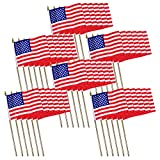 Universal Souvenir Mini USA Patriotic American US Stick Flag (4×6) Pack of 36 Review