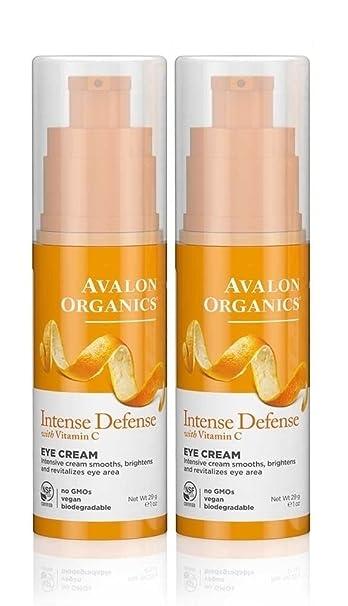 Intense Defense with Vitamin C Eye Cream, 1 Ounce (Pack of 2), By Avalon Organics Clinique Smart Custom-repair Serum 30ml