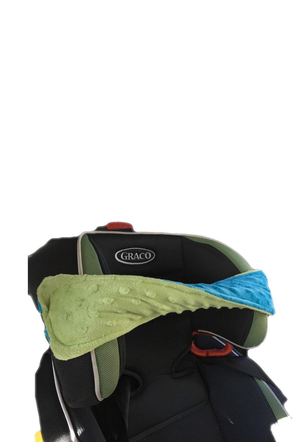 Big Bandz car seat pillow (Green/blue)