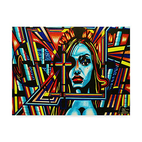 Face The Faith by Abstract Graffiti, 35x47-Inch by Trademark Fine Art