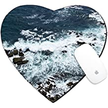 Luxlady Mousepad Heart Shaped Mouse Pads/Mat design IMAGE ID: 34355569 Waves rocks stones on the Ocean from above View from lighthouse Matara Ceylon Sri Lanka