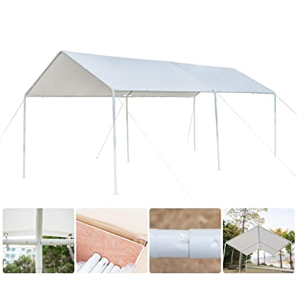 VINGLI 10 X 20 Heavy Duty Carport Car Canopy Elegant Simplicity Style Park